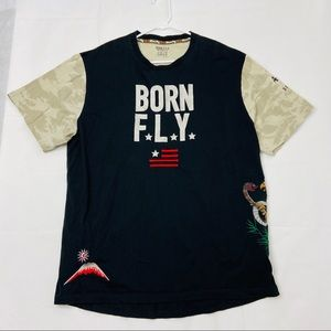 Born Fly T-shirt Embroidered Eagle Snake Camo 3XL